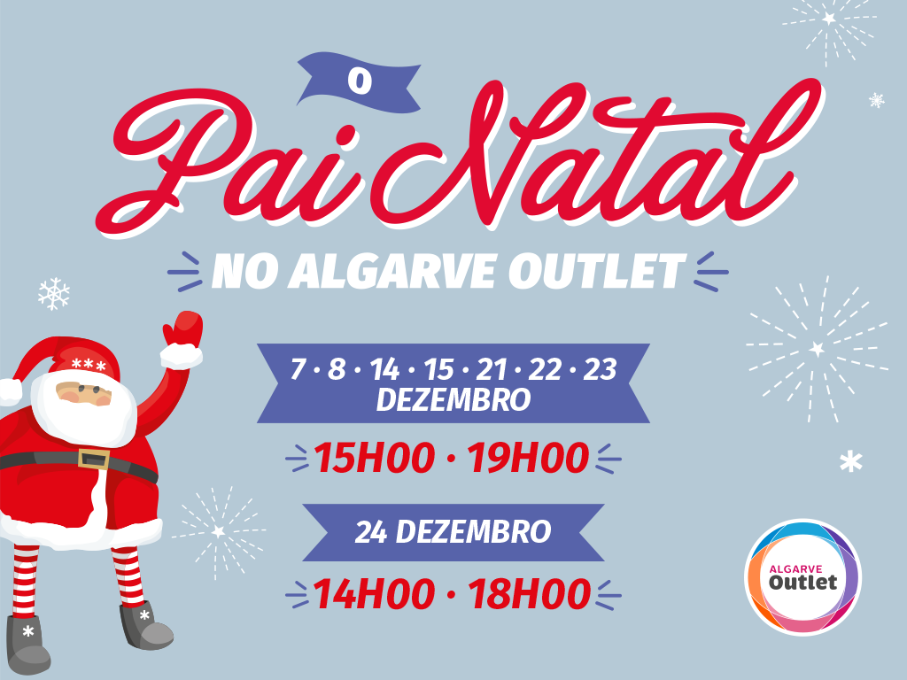 Horário do Pai Natal no Algarve Outlet
